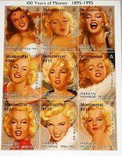 MONTSERRAT 1995 Klb 915-23 MS 860 Marily Monroe Actress Schauspielerin Kino MNH