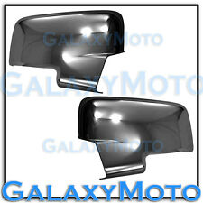 2009-2013 Dodge Ram HD w/Turn Light Triple Black Chrome Full Mirror Cover Pair