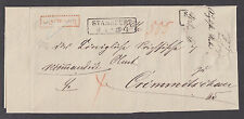 Germany 1872 Registered Stampless SFL, to Crimmitschau