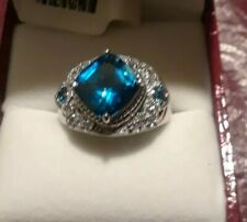 1bd1902d3 Topaz Solitaire with Accents Sterling Silver Fine Rings | eBay