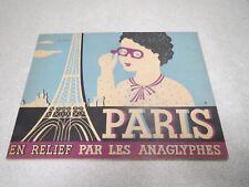 PARIS EN RELIEF PAR LES ANAGLYPHES en Relief 3D images book of Paris + LUNETTE *