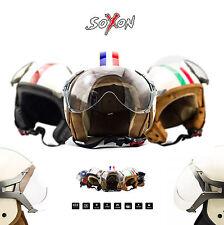⛑ SOXON SP-325 CASQUE MOTO JET ⸺ DEMI JET HELMET SCOOTER RETRO CHOPPER ⸺ XS – XL