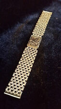 9ct SOLID GOLD 18mm_33.42g WATCH STRAP, for 18k-9k OMEGA,LONGINES,ROLEX etc, NEW