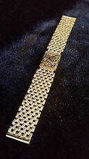 9ct SOLID GOLD 18mm_32.82g WATCH STRAP, for 18k-9k OMEGA,LONGINES,ROLEX etc, NEW