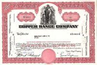 Copper Range Co - Stock Certificate