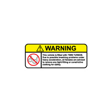 Warning Twin Turbos JDM Japanese Decal Sticker For Japanese Car
