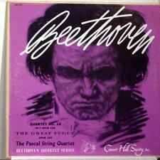 PASCAL STRING QUARTET beethoven no 16 LP VG+ CHS 1212 Concert Hall Society Mono