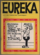 EUREKA N.4 editoriale corno 1968 andy capp speciale walt disney & mickey mouse