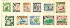 Rhodesia & Nyasaland #158-168(x164a) 1959-63 MH