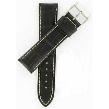 Hamilton 22mm Dark Brown Leather Jazzmaster Series Watch Band H600326100