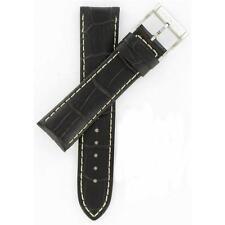 Hamilton 22mm Dark Brown Leather Jazzmaster Series Watch Band H600326100