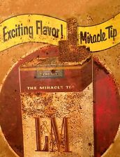 "TIN SIGN ""LM Cigarettes"" Nicotine Deco Garage Wall Decor"