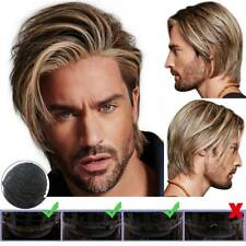 Mens Blonde Short Curly Hair Handsome Wig Male Synthetic Full Wigs Party Cosplay
