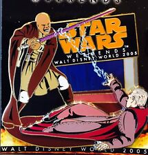 Disney Star Wars Weekends 2005 Pin Jedi Mace Windu Vs Palpatine Limited Edition