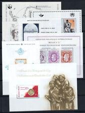 Belgique 1966-80 Bloc Feuillet 100% Neuf ** Peintre, Évêque, Plan, Lune