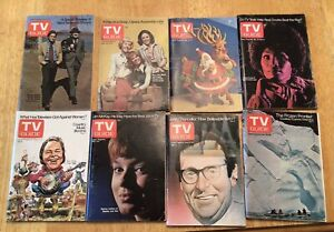 Lot of 8 TV Guide issues from 1973 1974 Chicago