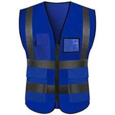 Hi Vis Viz Safety Vest High Visibility Waistcoat With Phone&ID Pocket Work Top