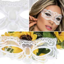 50 Shade Victorian Venetian Masquerade Sheer White Lace Elegant Eye Mask Costume