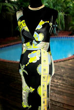 BOLD COLORS Chic' Pucci V-Neck Dress Knotted Bodice IT40 4-6 S FR36 $REDUCED$125