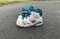 Toddler's Nike Air Jordan Retro 6 White Laser Fuchsia US Size 6C