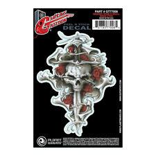 Planet Waves Guitar Tattoo, Dagger Rose Skull Design