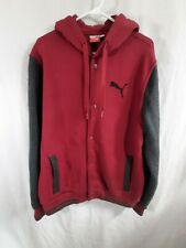 Puma Hoodie Long Sleeve Men Shirt Size Large With Snap Buttons