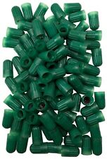 (100) Long Plastic Green Sealing Tire Cap for TR20008 TPMS Valve Stem & Nitrogen