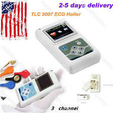 ECG/EKG Holter System 3 Channel 24 Hours Recorder Monitor+PC Software USA Fedex