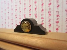 Miniature Dollhouse Mantle Clock #2  1:12 scale. Wood.