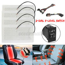 2 Seats 5 Level Switch Car Seat Heater Heated Cushion Pad Carbon Fiber   W