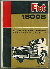 1969 FIAT 1800 B Sedan Estate Catalogue replacement parts it fr of 3° edition