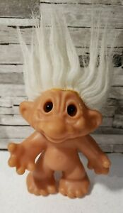"Vintage TH DAM DESIGN Troll Doll  Amber EYES, White Hair 5"" Thomas Dam"