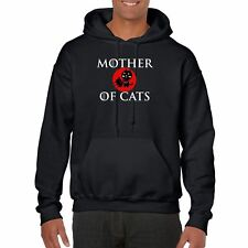 Mens Funny Printed Hoodies-Mother of Cats Game of thrones Inspired-Gifts