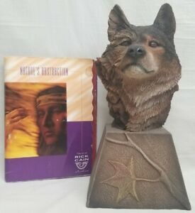 Rick Cain - Dual Fire & Ice Wolf Sculpture - Limited Edition 1220/2000