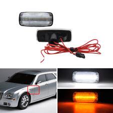 2x Clear Amber Led Side Marker Light For Chrysler 300 200 Sebring Town & Country