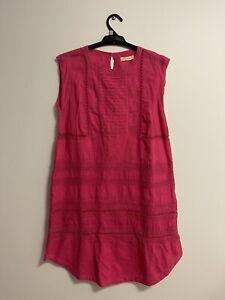 Boom shankar size 12 embroidered Pink cotton dress