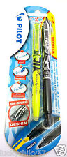 Pilot Frixion Pen with Yellow Highlighter - Retractable Rollerball - 2 pack
