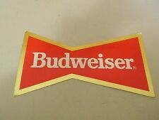 Budweiser Bow Tie Cardboard Sign with flip out edges- 9X5 - New Old Stock