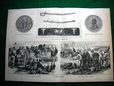 1884 - da documenti inglesi: medaglia d'onore al Ministro Magliani  Campo Suakim