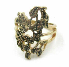Leaf Metal Size 7 Ring Jd9471 New listing Free Shipping Fashion Jewelry Delicate