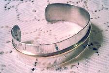 .925 Estate Sterling Silver Mexico Polished Signed CHOEN MODERNIST Cuff Bracelet