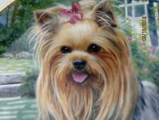 The Danbury Mint Yorkshire Terrier Yorkie Pal Summertime Beauty Patricia Bourque