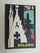 Cartolina Pubblicitaria Ente provinciale Turismo Milano Nizzoli