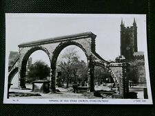 REMAINS OF OLD CHURCH STOKE ON TRENT PHOTO POSTCARD