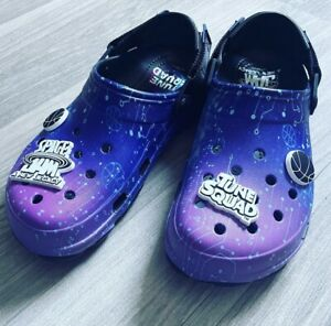 NEW CROCS CLASSIC Clog X SPACE JAM 2 BLACK PURPLE PINK MENS SIZE 13 IN HAND NWT