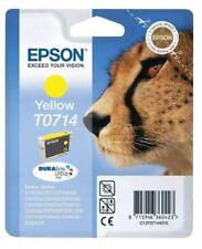 4 x Genuine Original Unused  Epson T0714 Ink Cartridge Yellow