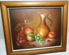 """Framed original Oil Painting """"Still Alive"""" signed in low right S30 X 25cm"""