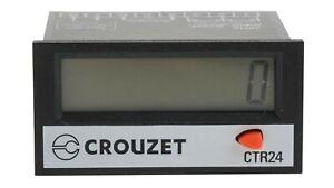 Crouzet CTR24 LCD Impulsion Compteur Numérique Timer Relay 87622070 Relais