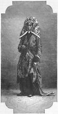 IRAQ. Iraq. Jewess of Basra 1880 old antique vintage print picture