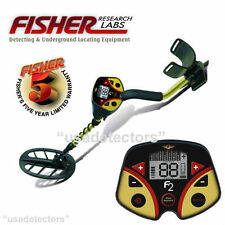 """FISHER F2 METAL DETECTOR WITH 11"""" DD SEARCH COIL & 5 YEAR WARRANTY !"""